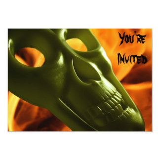 Halloween dräktparty 12,7 x 17,8 cm inbjudningskort