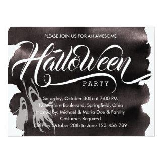 Halloween dräktparty 16,5 x 22,2 cm inbjudningskort
