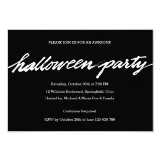 Halloween dräktparty 8,9 x 12,7 cm inbjudningskort