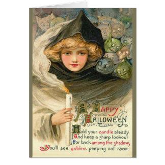 Halloween elakt trollhälsningar hälsningskort