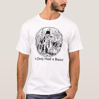Halloween fågelskrämma ingen hjärnT-tröja T Shirts