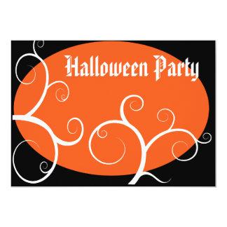 Halloween fest 12,7 x 17,8 cm inbjudningskort