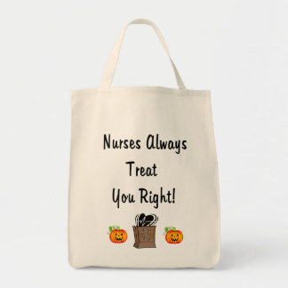 Halloween fest för sjuksköterskor mat tygkasse