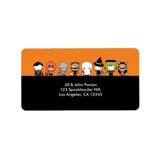 Halloween festadressetikett adressetikett