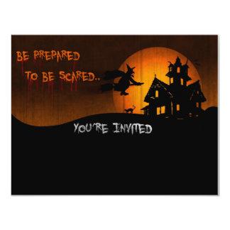 Halloween festinbjudan 10,8 x 14 cm inbjudningskort