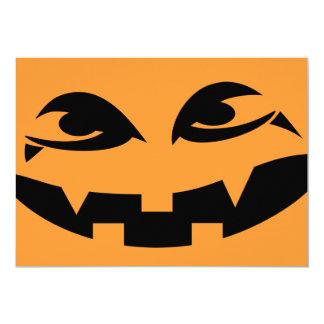 Halloween festinbjudan - vampyrpumpa 12,7 x 17,8 cm inbjudningskort