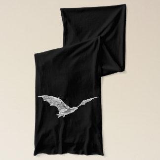 Halloween fladdermöss, kallt väder för svartvit halsduk
