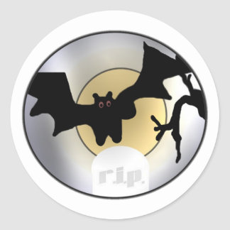 Halloween fladdermössREVA Runt Klistermärke