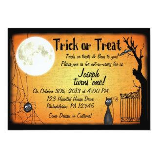 Halloween födelsedaginbjudan 12,7 x 17,8 cm inbjudningskort