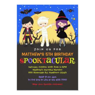 Halloween födelsedaginbjudan/Halloween inbjudan