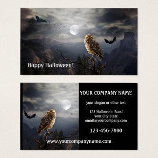 Halloween för nattuggla visitkort