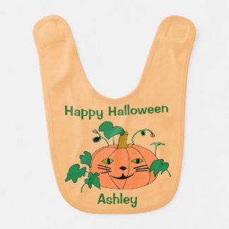 Halloween för pumpa för personligkattansikte hakklapp