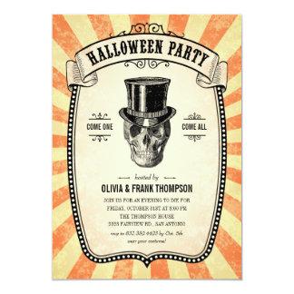 Halloween för vintagekarnevalShow inbjudningar
