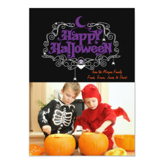 Halloween fotokort 12,7 x 17,8 cm inbjudningskort