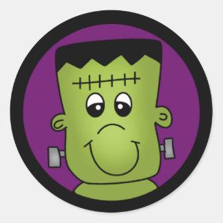 Halloween Frankie Runt Klistermärke