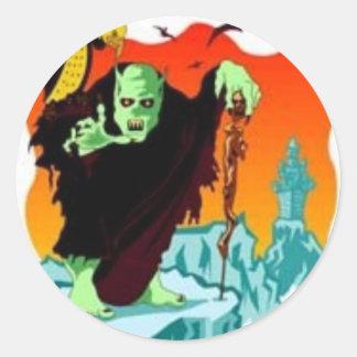 Halloween Ghoul Runt Klistermärke