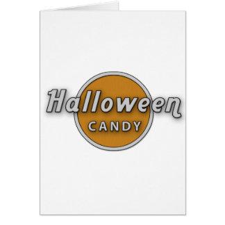 halloween godis hälsningskort