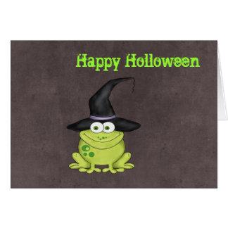 Halloween groda hälsningskort