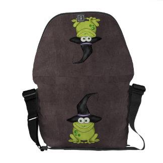Halloween groda messenger bag