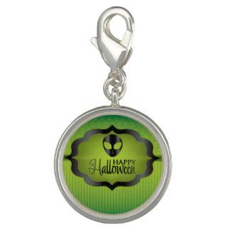 Halloween grön främling charm