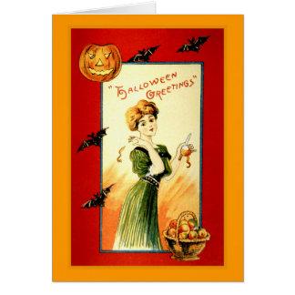 Halloween hälsningar hälsningskort