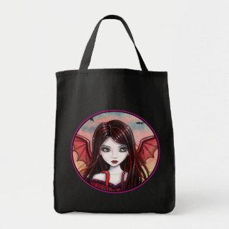 Halloween hänger lös den gulliga vampyren vid mat tygkasse