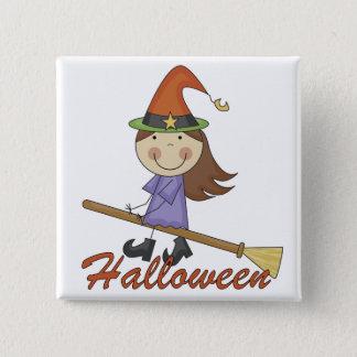 Halloween häxaT-tröja och gåvor Standard Kanpp Fyrkantig 5.1 Cm
