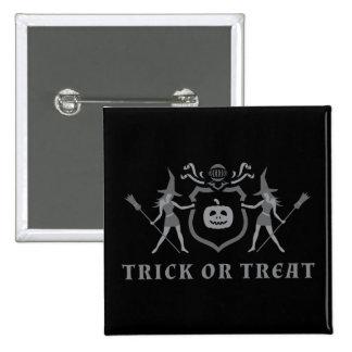 Halloween häxor standard kanpp fyrkantig 5.1 cm