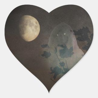 Halloween Hjärtformat Klistermärke