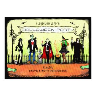 Halloween inbjudan - Halloween dräktparty