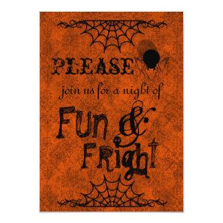 Halloween inbjudningar i orange 12,7 x 17,8 cm inbjudningskort