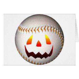 Halloween jackO'Lantern baseball Hälsningskort