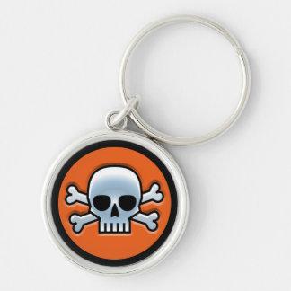 Halloween 'Jolly Roger Rund Silverfärgad Nyckelring