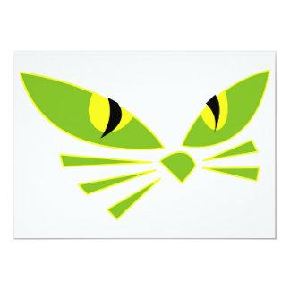 Halloween katt 12,7 x 17,8 cm inbjudningskort
