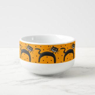 Halloween katt stor kopp för soppa
