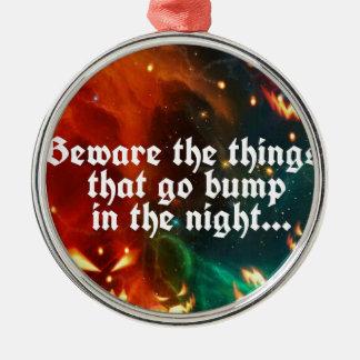 Halloween kusliga saker som går bulan i natten julgransprydnad metall