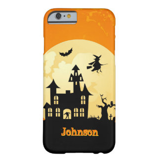 Halloween månsken spökat hus i kyrkogård barely there iPhone 6 fodral