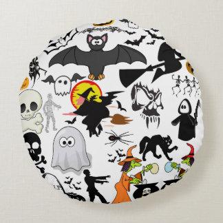 Halloween Mashup Rund Kudde