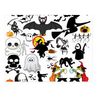 Halloween Mashup Vykort