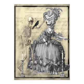 Halloween maskeradboll 14 x 19,5 cm inbjudningskort