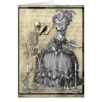 Halloween maskeradboll hälsningskort