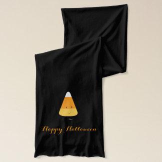 Halloween med att le candy corn halsduk