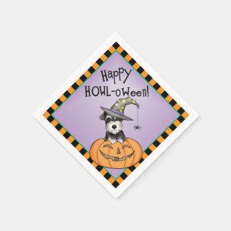 Halloween miniatyrSchnauzer Papper Servetter