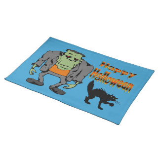 Halloween monster - svart kattbordstabletter bordstablett