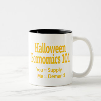 Halloween nationalekonomi 101 Två-Tonad mugg