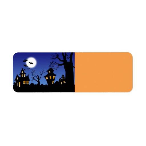 Halloween natt returadress etikett