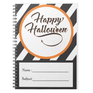 Halloween noterar boken anteckningsbok med spiral