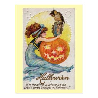 Halloween, om din älskare är sedd vintage vykort