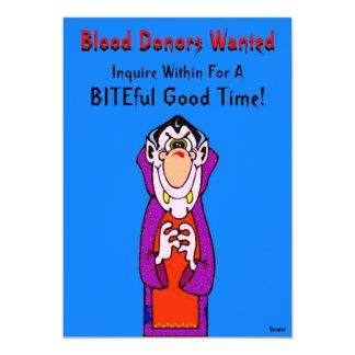 Halloween - önskade Dracula blodgivare 12,7 X 17,8 Cm Inbjudningskort