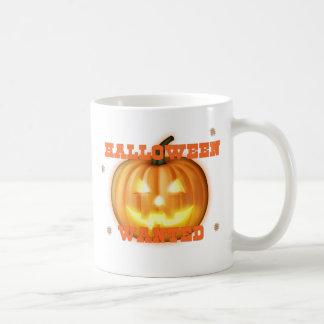 halloween önskade kaffemugg
